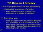 tip data for advocacy