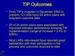 tip outcomes