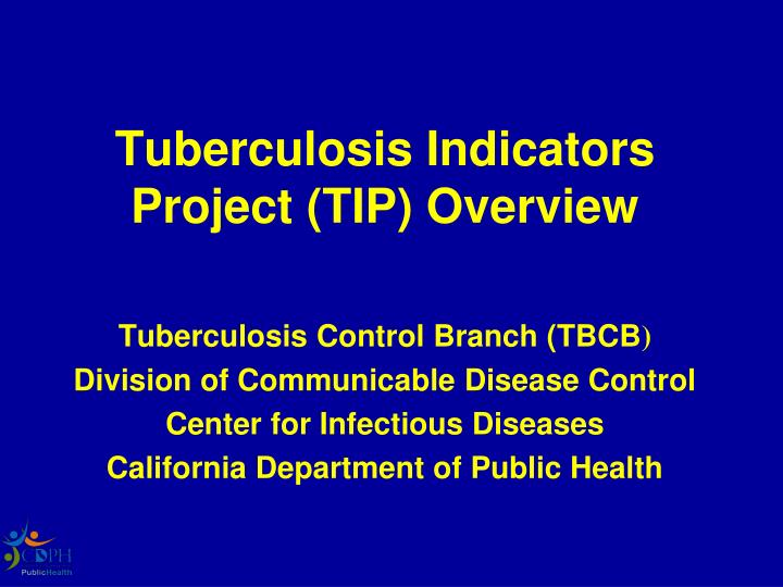 tuberculosis indicators project tip overview n.
