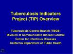 tuberculosis indicators project tip overview