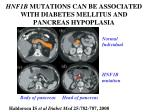 hnf1b mutations can be associated with diabetes mellitus and pancreas hypoplasia