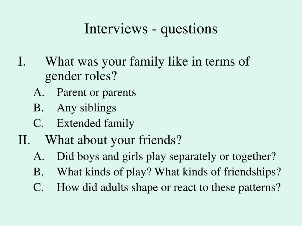 Student affairs interview presentation format
