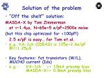 solution of the problem