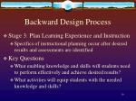 backward design process5