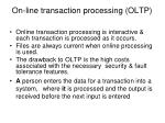 on line transaction processing oltp