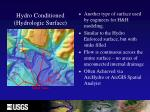 hydro conditioned hydrologic surface