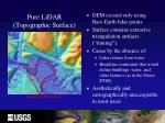 pure lidar topographic surface