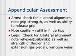 appendicular assessment