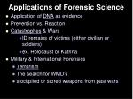 applications of forensic science1