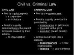 civil vs criminal law