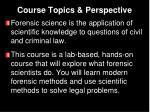 course topics perspective