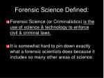 forensic science defined