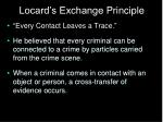 locard s exchange principle