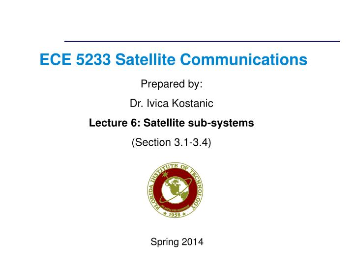 ece 5233 satellite communications n.