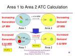 area 1 to area 2 atc calculation