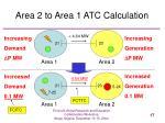 area 2 to area 1 atc calculation