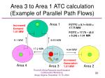 area 3 to area 1 atc calculation example of parallel path flows