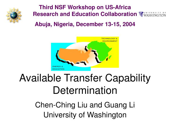available transfer capability determination n.