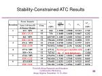 stability constrained atc results