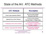 state of the art atc methods