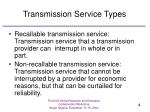 transmission service types