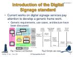 introduction of the digital signage standard