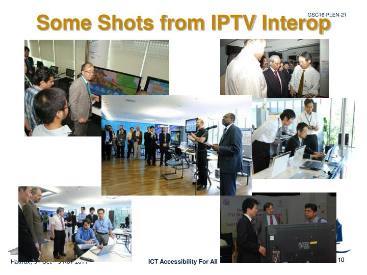 Some Shots from IPTV