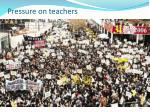 pressure on teachers
