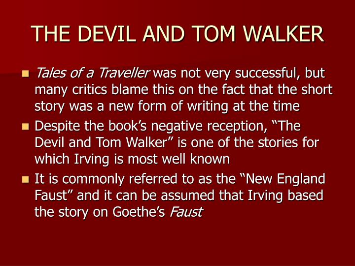 the devil and tom walker and Looking for top the devil and tom walker quizzes play the devil and tom walker quizzes on proprofs, the most popular quiz resource choose one of the thousands addictive the devil and tom walker quizzes, play and share the devil and tom walker quiz.