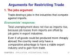 arguments for restricting trade1
