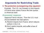 arguments for restricting trade5