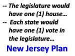 the legislature would have one 1 house each state would have one 1 vote in the legislature