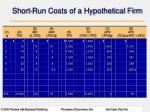 short run costs of a hypothetical firm
