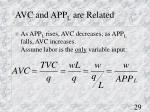 avc and app l are related