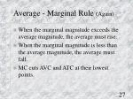 average marginal rule again