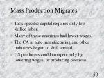 mass production migrates