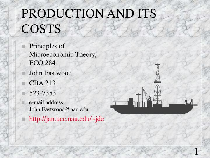 production and its costs n.