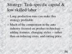 strategy task specific capital low skilled labor