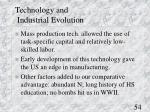 technology and industrial evolution