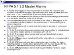 nfpa 5 1 9 2 master alarms