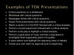 examples of tok presentations