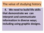 the value of studying history