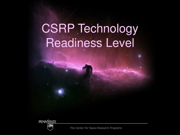 csrp technology readiness level n.
