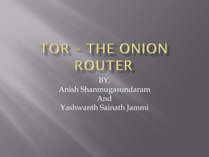 tor the onion router n.