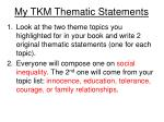 my tkm thematic statements