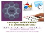 a concept of service mediator its potential applications