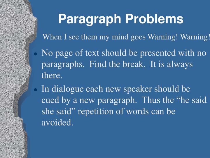 Paragraph Problems