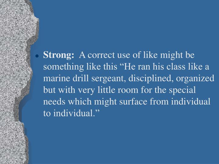 Strong: