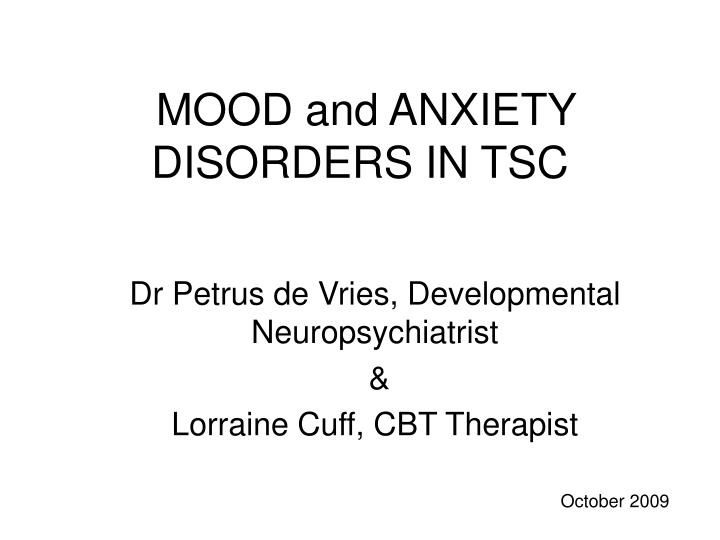 mood and anxiety disorders in tsc n.