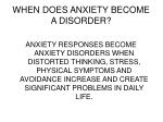 when does anxiety become a disorder
